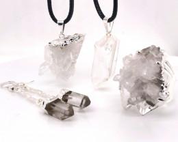 Crystal Raw  Set - High Grade Druzy - BR 1262