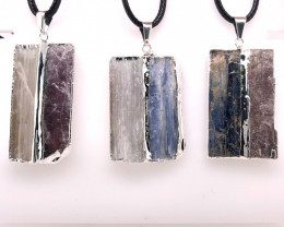 3 x Blue Kyanite and Mica Pendant - BR 1285