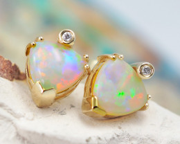 OPAL HEARTS SET IN 14 K Yellow Gold - OPJ 2301