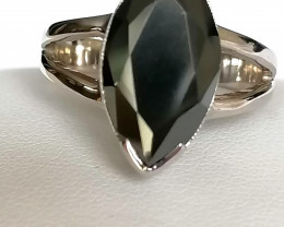 Black Diamond Solitaire Ring 4.00cts.