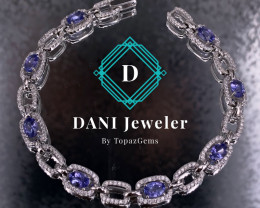 Tanzanite  925 Silver Set by DANI Jewellery
