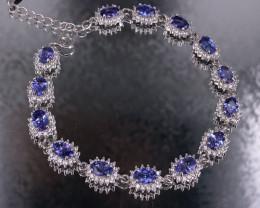 Tanzanite  925 Silver Bracelet by DANI Jewellery
