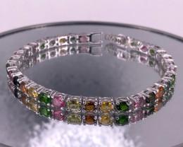 Natural Tourmaline  925 Silver Bracelet by DANI Jewellery