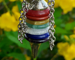 Natural 7 Different Color Chakra Pendant by DANI Jewellery