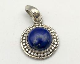 14.25 Crt Natural Lapis Lazuli 925 Silver Pendant