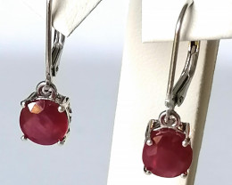 Ruby Drop Earrings 4.00 TCW