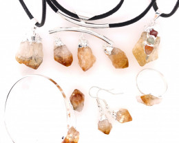 CITRINE JEWELRY SET - 6 Pieces Terminated point BR 1315