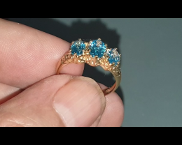 9 Ct Gold London Topaz Ring
