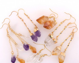 6 x Raw Beautiful and Natural Earrings Lovers - BR 1350