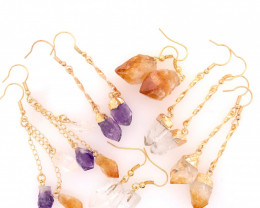 6 x Raw Beautiful and Natural Earrings Lovers - BR 1352