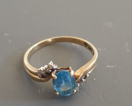 TCW 7.9 Ct Gold Topaz Ring