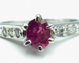 0.40 Ct Ruby Unheated Mozambiq Quality Silver 925 Ring. (DRB 58)