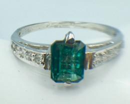 Natural Tourmaline Beautiful Gemstone. Silver Ring. DTM 69