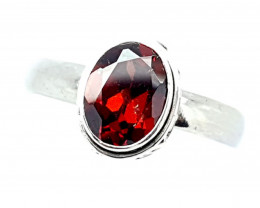 Natural Stunning Gernet 925 Sterling Silver Hand Made Ring (JE40)