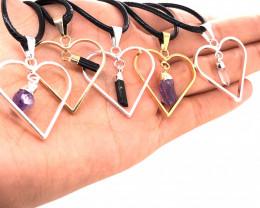 Parcel 5 x Pendant Lovers Natural Gemstones - BR 1422