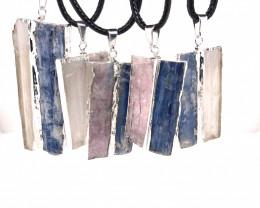 5 x Blue Kyanite, Mica and Selenite Pendant - BR 1443