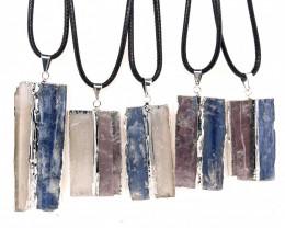 5 x Blue Kyanite, Mica and Selenite Pendant - BR 1444