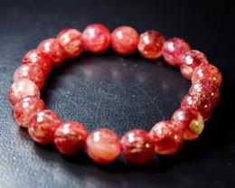 151 ct Unheated ~ Natural Cherry Quartz Beads  Bracelets