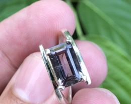 Natural Tourmaline Hand Made 925 Silver Ring