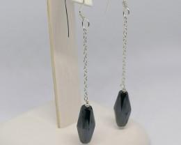 Black Diamond Drop Earrings 12.00 TCW