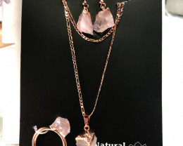 NEW Product Release  -Raw  Rose Quartz 5 piece set  Br22542