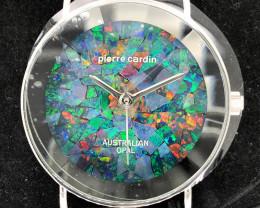 Original Unisex Silver Opal Watch Mosiac Opal - W0 13