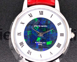 Original Red Ladies Silver Opal Watch Mosiac Opal - WO 32