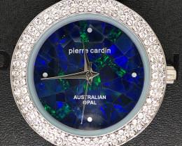 Original Ladies Silver Opal Watch Band Crystal - WO 40
