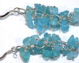 49.95CTS APATITE EARRINGS NEON BLUE UNTREATED SG-3029