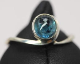 Natural Tourmaline Cabochon 1.5 ct Handmade 925 Sterling silver ring