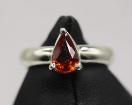 1.85 cts   Natural Spessartine Garnet Transparent Handmade 925 Sterling si