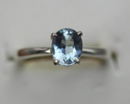 Lovely  1.47cts    Natural Aquamarine Transparent Handmade 925 Sterling si