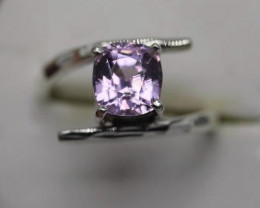 2.72 ct s Natural Pink Kunzite  Transparent  Handmade 925 Sterling silver r