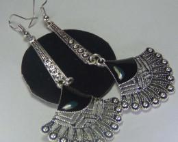Captivating Silver Fish Hook Earrings