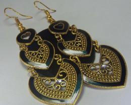 Modish Golden Fish Hook Earrings for Women