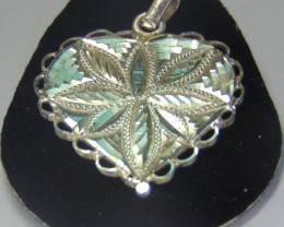 999 silver designs~faceted pendent ~  20.50cts