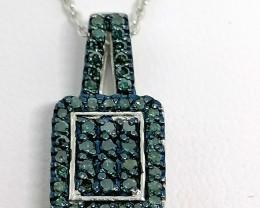 Blue Diamond Necklace 0.33 TCW