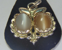 Moonstone ~pair pendent oval ~ silver  designs 44.70cts