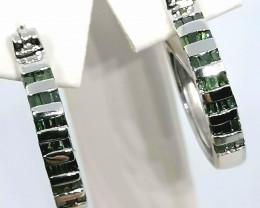 Green Diamond Earrings 0.50 TCW