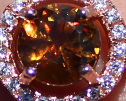 Sphene or Titanite 1.20ct Rose Gold Finish Solid 925 Sterling Silver Ring