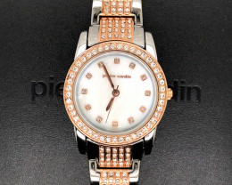 Mother Pearl Pierre Cardin Ladies  Silver / Rose Gold Watch WO 57