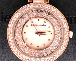 Mother Pearl Pierre Cardin Ladies Rose Gold Watch WO 62