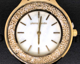 Mother Pearl Pierre Cardin Ladies Gold Watch WO 64