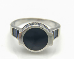 27.01 Crt Natural Black Onyx 925 Silver Ring