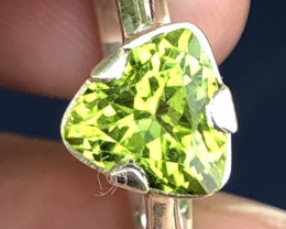 Natural Peridot Hand Made 925 Silver Ring