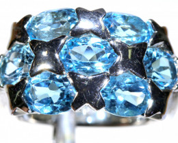 51.10 CTS BLUE TOPAZ SILVER RING SG-3032