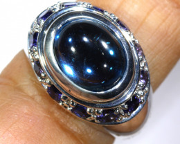 38.75 CTS BLUE TOPAZ SILVER RING SG-3034