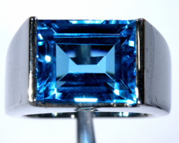 48.45 CTS BLUE TOPAZ SILVER RING SG-3036