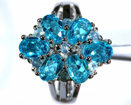 35.30 CTS BLUE TOPAZ SILVER RING SG-3038