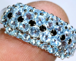 39.90 CTS BLUE TOPAZ SILVER RING SG-3039